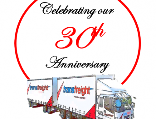 Celebrating our 30th Anniversary in the Freight Industry (1989-2019)